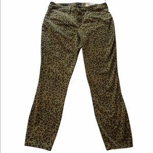 NYDJ Ami Skinny Leopard Print Pants Size 10